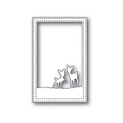 Poppy Stamps Stanzschablone - Playful Deer Stitched Frame
