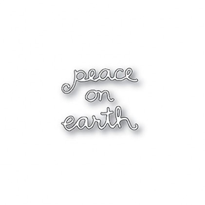 Poppy Stamps Stanzschablone - Peace On Earth Doodle Script