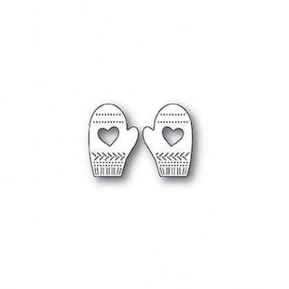 Poppy Stamps Stanzschablone - Pinpoint Heart Mittens