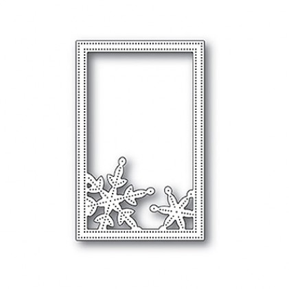 Poppy Stamps Stanzschablone - Simple Pinpoint Snowflake Frame