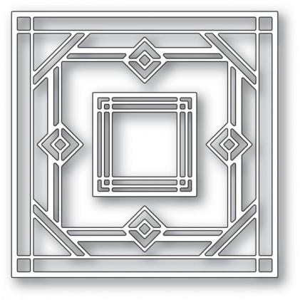 Poppy Stamps Stanzschablone - Deco Victor Square