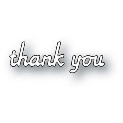 Poppy Stamps Stanzschablone - Simple Thank You - 50% RABATT