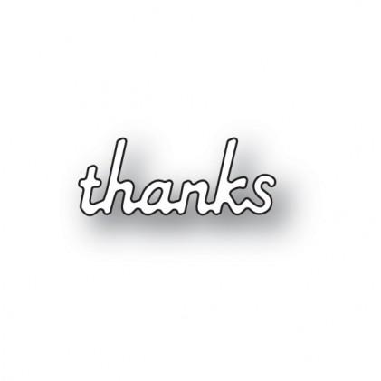 Poppy Stamps Stanzschablone - Simple Thanks - 35% RABATT