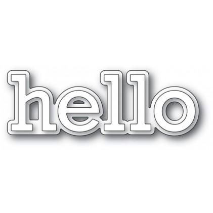 Poppy Stamps Stanzschablone - Hello Outline
