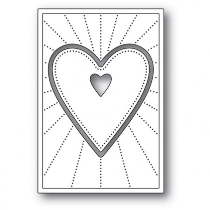 Poppy Stamps Stanzschablone - Deco Shining Heart