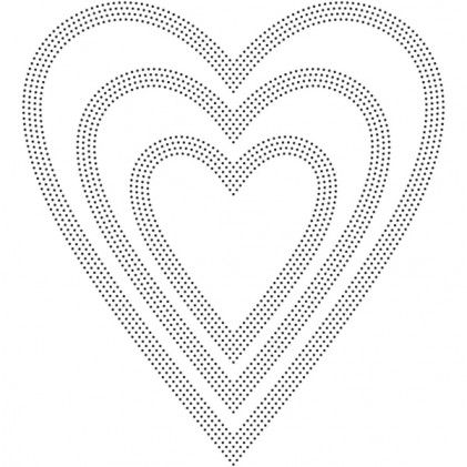 Poppy Stamps Stanzschablone - Pinpoint Hearts