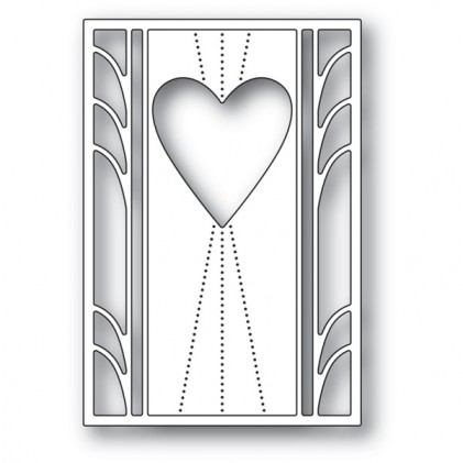 Poppy Stamps Stanzschablone - Deco Marquis Heart