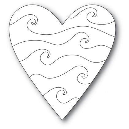 Poppy Stamps Stanzschablone - Wavy Heart