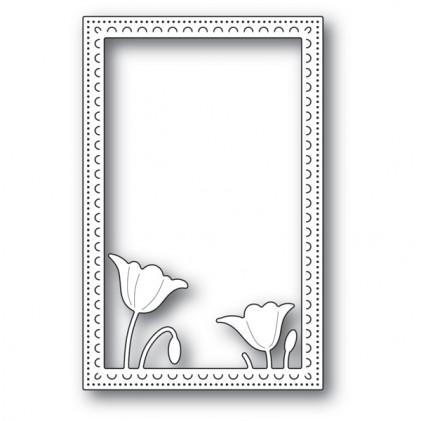 Poppy Stamps Stanzschablone - Garden Poppy Stitched Frame