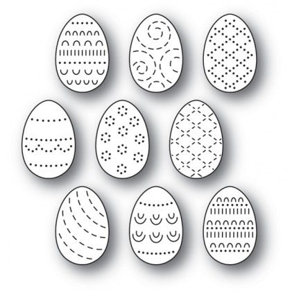 Poppy Stamps Stanzschablone - Folk Decorated Eggs
