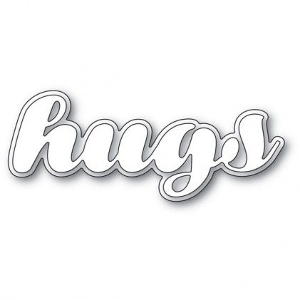 Poppy Stamps Stanzschablone - Luscious Script Hugs