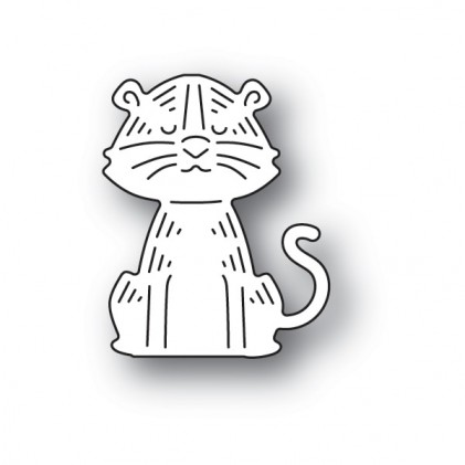 Poppy Stamps Stanzschablone - Whittle Tiger
