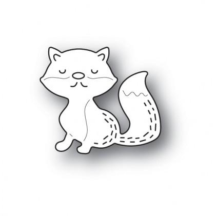 Poppy Stamps Stanzschablone - Whittle Sleepy Fox
