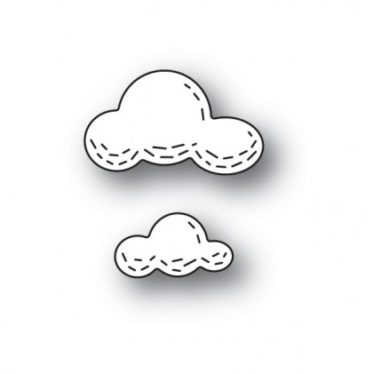 Poppy Stamps Stanzschablone - Whittle Clouds