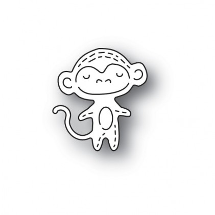 Poppy Stamps Stanzschablone - Whittle Monkey