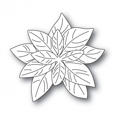 Poppy Stamps Stanzschablone - Delicate Poinsettias
