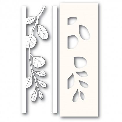 Poppy Stamps Stanzschablone - Mistletoe Side Strips and Stencil