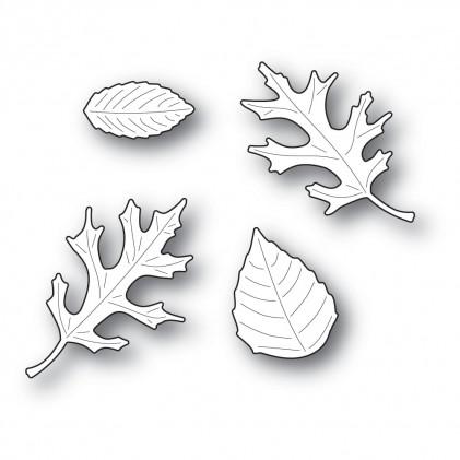 Poppy Stamps Stanzschablone - Autumn Leaf Set