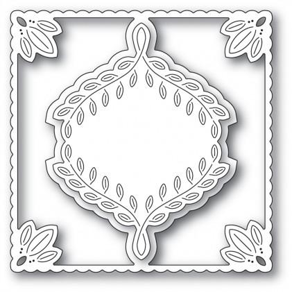 Poppy Stamps Stanzschablone - Leafy Ornament Frame - 20% RABATT