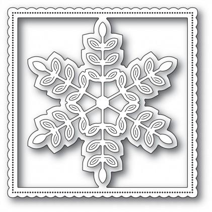 Poppy Stamps Stanzschablone - Leafy Snowflake Frame