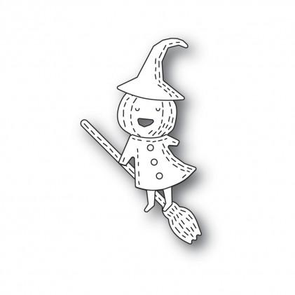 Poppy Stamps Stanzschablone - Whittle Pumpkin Witch