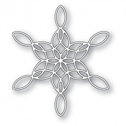 Poppy Stamps Stanzschablone - Stained Glass Snowflake