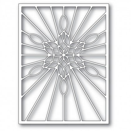 Poppy Stamps Stanzschablone - Stained Glass Snowflake Window