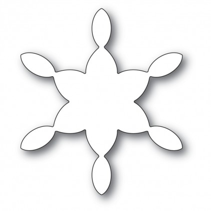 Poppy Stamps Stanzschablone - Stained Glass Snowflake Background