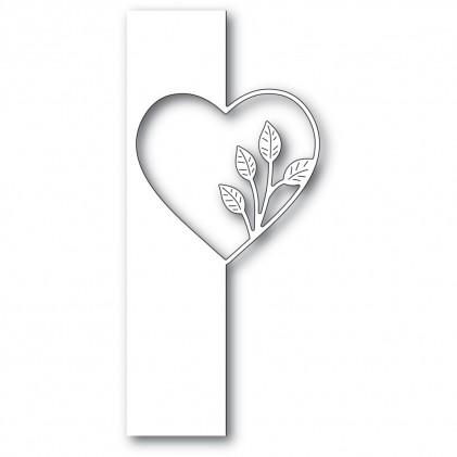 Poppy Stamps Stanzschablone - Simple Leaf Heart Split Border