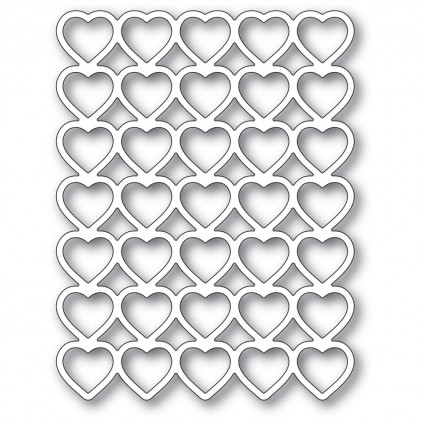 Poppy Stamps Stanzschablone - Banded Hearts