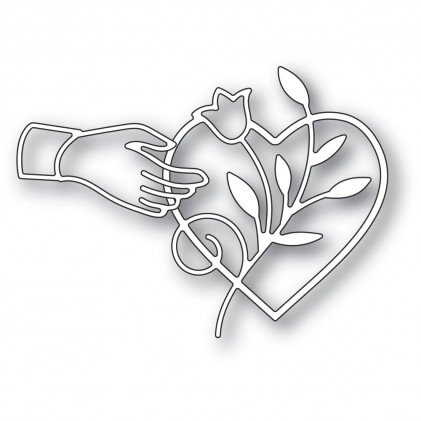Poppy Stamps Stanzschablone - Heart Favor