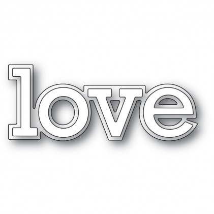 Poppy Stamps Stanzschablone - Love Outline