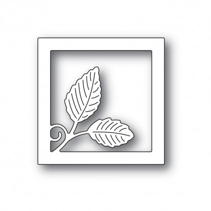 Poppy Stamps Stanzschablone - Intricate Leaf Square Frame