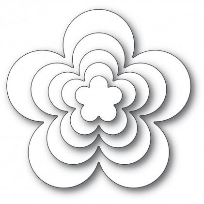 Poppy Stamps Stanzschablone - Flora Bloom Solids Set