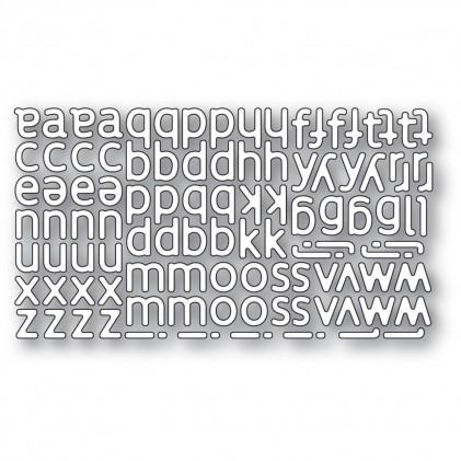 Poppy Stamps Stanzschablone - Poetic Lowercase Alphabet