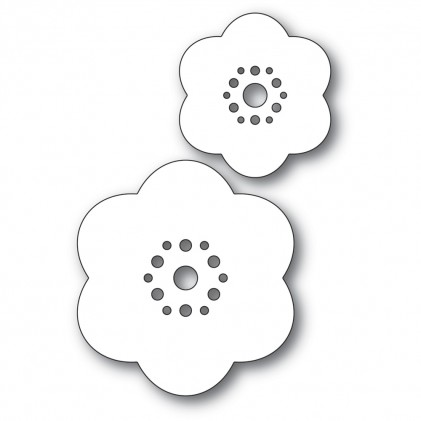 Poppy Stamps Stanzschablone - Rounded Bloom Flowers