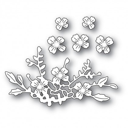 Poppy Stamps Stanzschablone - Floral Cluster