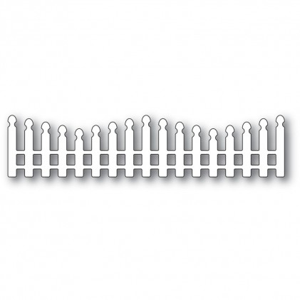 Poppy Stamps Stanzschablone - Wavy Long Picket Fence