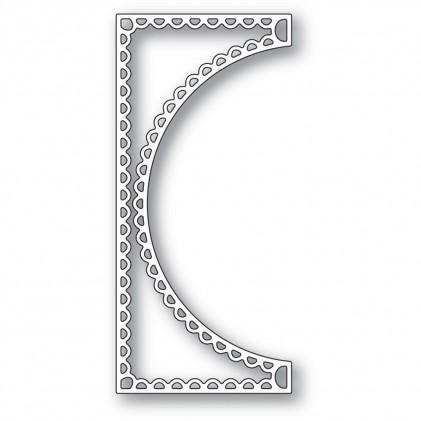 Poppy Stamps Stanzschablone - Scallop Small Curve Border