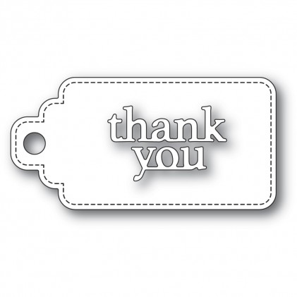 Poppy Stamps Stanzschablone - Thank You Stitched Tag