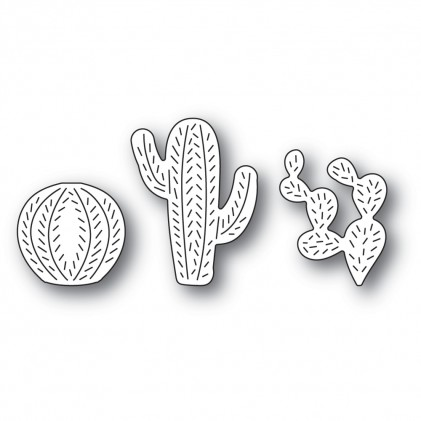 Poppy Stamps Stanzschablone - Whittle Cactus Trio