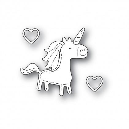 Poppy Stamps Stanzschablone - Whittle Unicorn