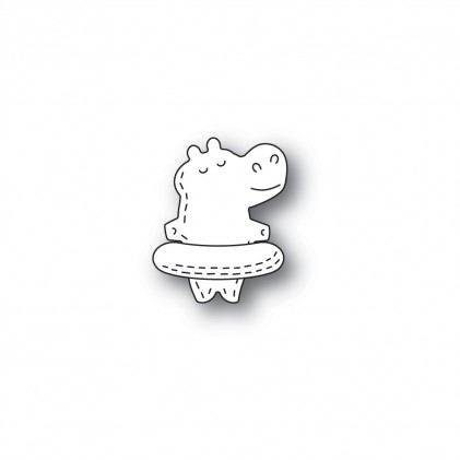 Poppy Stamps Stanzschablone - Whittle Floating Hippo