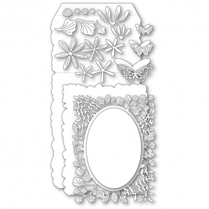 Poppy Stamps Stanzschablone - Fern and Daisy Pop Up Easel Set