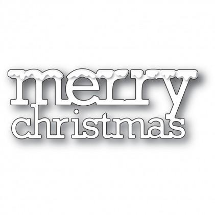 Poppy Stamps Stanzschablone - Snowy Merry Christmas