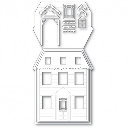 Poppy Stamps Stanzschablone - Winter House Pop Up Easel Set