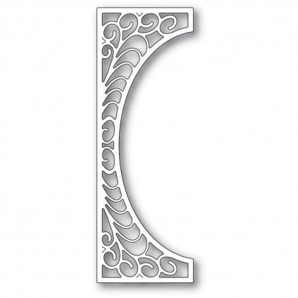 Poppy Stamps Stanzschablone - Flourish Tall Curve Border