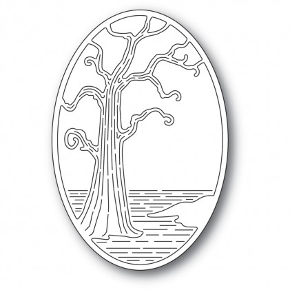 Poppy Stamps Stanzschablone - Twisted Tree Oval
