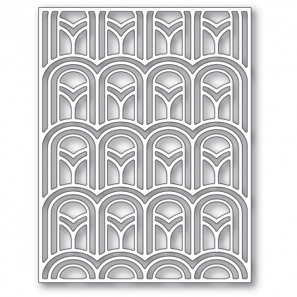 Poppy Stamps Stanzschablone - Arched Deco Plate