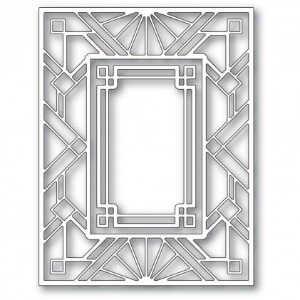Poppy Stamps Stanzschablone - Geometric Deco Plate